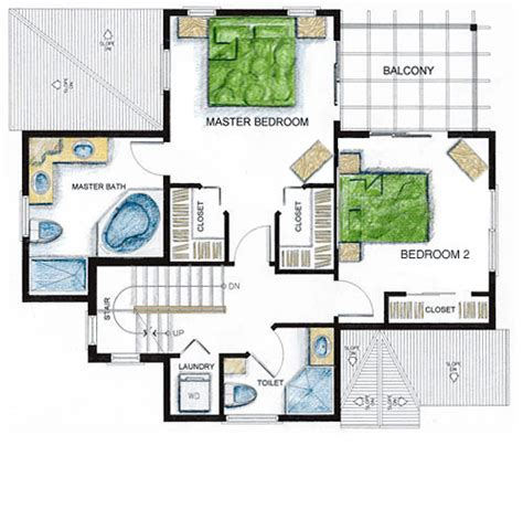 second floor plan cayman calypso villa