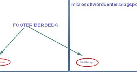 membuat footer berbeda setiap halaman membuat footer berbeda untuk setiap halaman ms word center