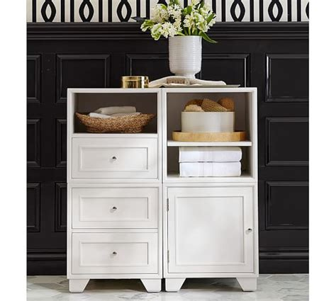pottery barn bathroom storage modular floor storage pottery barn