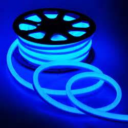 flex led neon rope light blue 50 holiday decorative