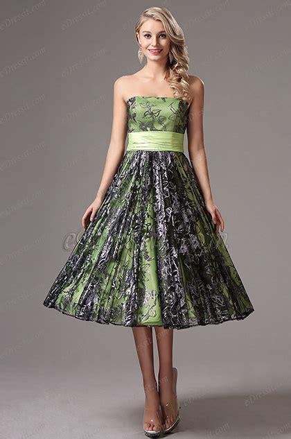 Dress Green Tea strapless green tea length dress formal dress