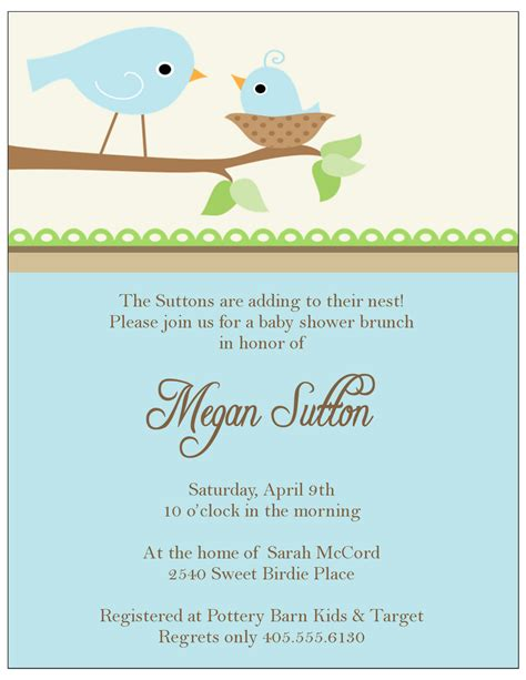baby shower invitation card template template baby shower invitation cards