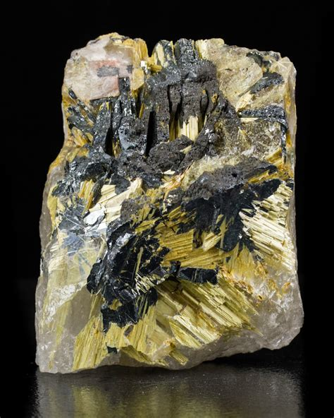 3 6 quot radiantneedle crystals of golden rutile on hematite quartz brazil for sale ebay