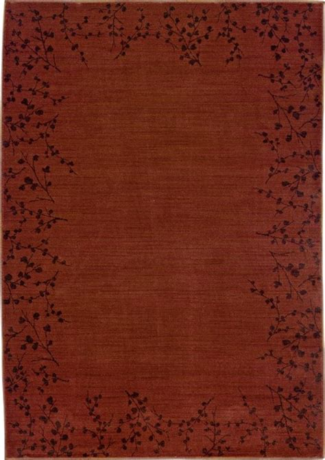 Cherry Blossom Area Rug Asian Cherry Blossom Border Area Rug Modern Rugs By Ls Plus