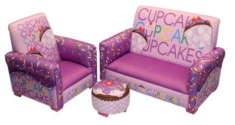 cupcake ottoman purple cupcake sofa and ottoman for girls purple bedroom