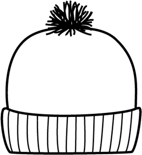 stocking hat coloring page full page image with words
