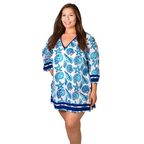 plus size swimsuit cover ups for women peppermint bay paradise plus size cover ups women s