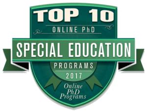 Best Doctoral Programs In Education by Top 10 Phd Programs In Special Education 2017