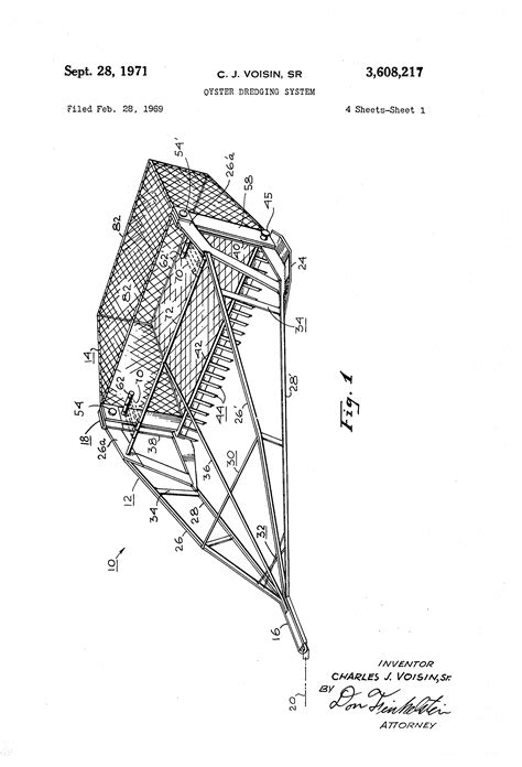 Patent US3608217 - Oyster dredging system - Google Patents