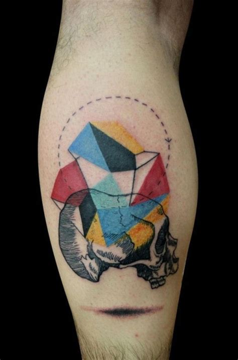 colorful geometric tattoos 100 glowing color designs to ink