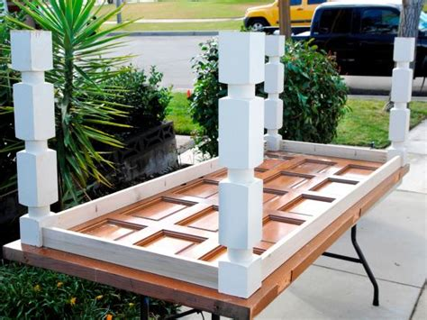 how to a dining table from an door how to build a dining table from an door and posts hgtv