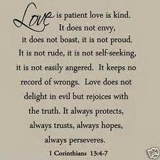 Love is patient love is kind wall decal love quotes bible wedding wall