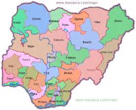 Map Of Nigeria States by Nigerian States And Capital Map