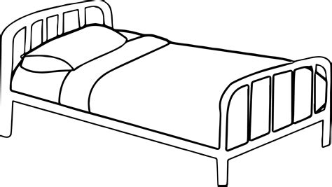 Bed Coloring Pages Printable Diannedonnelly Com Bed Coloring Page