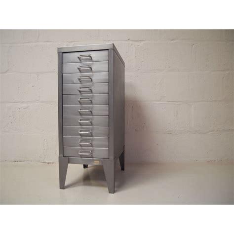 polished steel filing cabinet vintage industrial furniture
