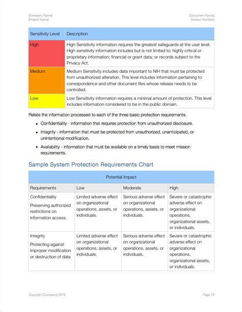 security standards template security plan apple iwork