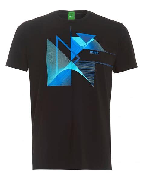 hugo boss pattern t shirt hugo boss green mens tee 7 t shirt geometric triangles