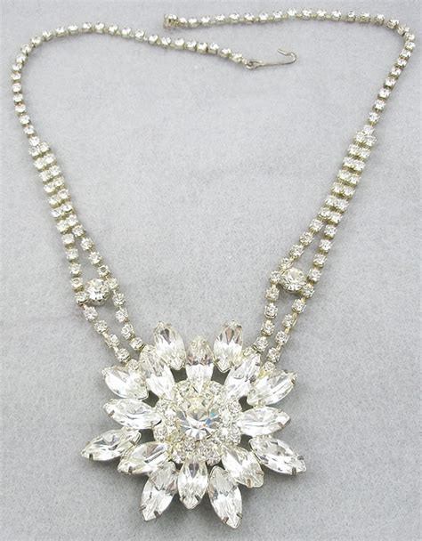 Rhinestone Snowflake Necklace rhinestone snowflake necklace garden collection