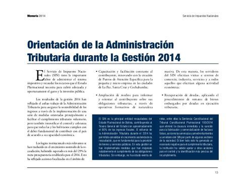 servicio de impuestos nacionales cultura tributaria 2 memoria 2014 servicio de impuestos nacionales