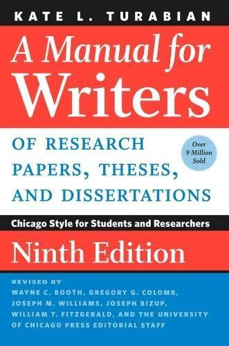a manual for writers of research papers 9th edition teamcurse net