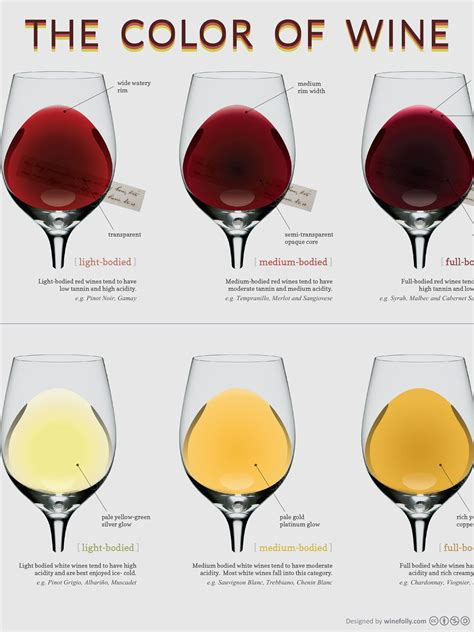 light bodied red wine 13 quot x 19 quot poster compare the different colors of wine with