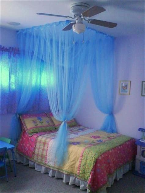 blue bed canopy octorose 174 black 4 corner bed canopy functional mosquito