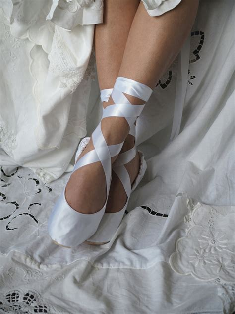 Ballet Wedding Shoes by White Satin Bridal Ballet Slippers White Ballerina Bridal
