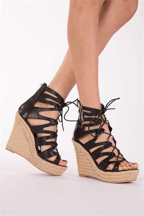 high heel wedge shoes womens high heel wedge sandals platform lace