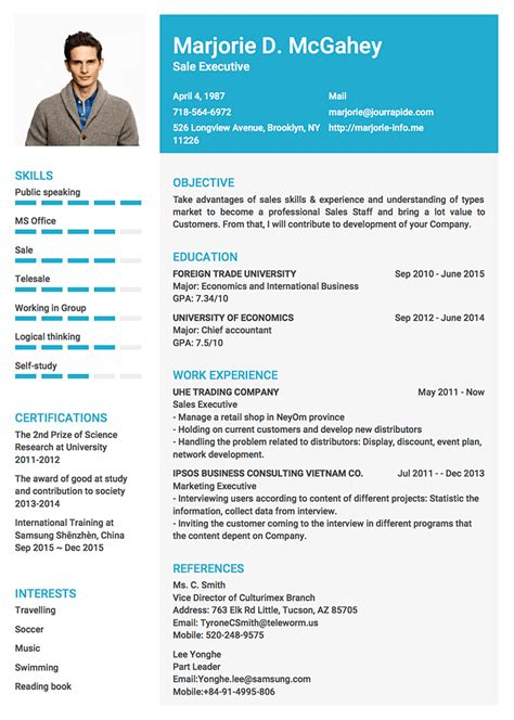 professional resume cv templates with exles topcv me