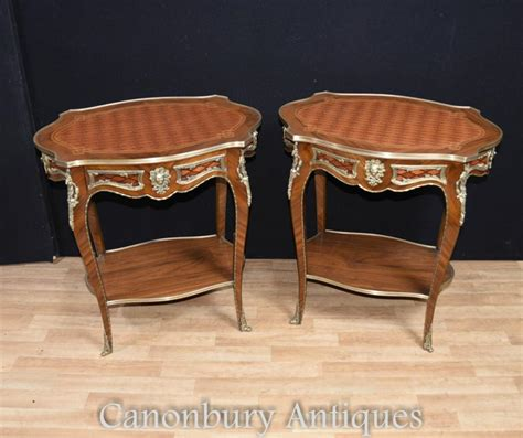Louis Xvi Table by Pair Louis Xvi Side Tables Table Furniture