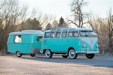 this volkswagen and cer combo are vintage vw royalty