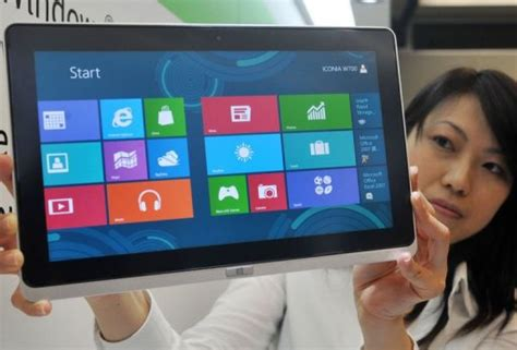 Laptop Acer Taiwan taiwan s acer asus unveil tablets with windows 8 update
