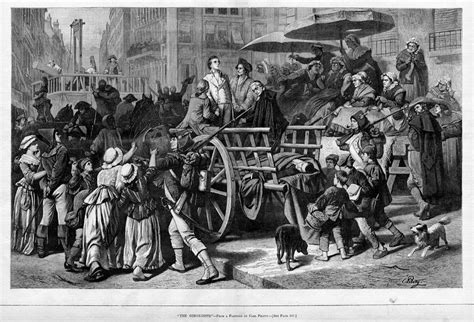 guillotine knitting guillotine wretched knitting mob prisoners cart