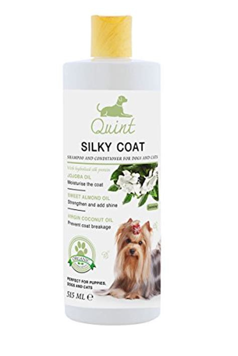 coconut for dogs coat quint organic silky coat shoo and conditioner for dogs and cats with jojoba