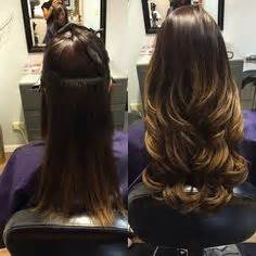 are tape extensions good for updos high contrast neutral ombre clip in extensions silky