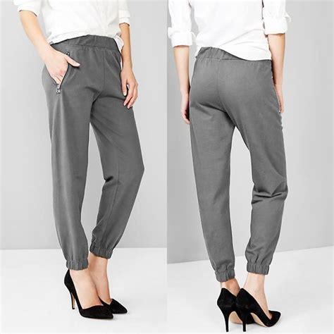 Celana Panjang Wanita Jogger Joger Polos Casual Santai Simpel 32 model gaya celana jogger pria wanita panjang casual