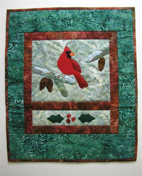 art quilt pattern cardinal art quilt pattern