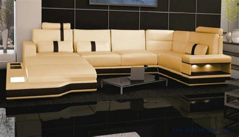 Large Modern Sofas Free Shipping Large Size Villa Furniture Genuine Leather Sofa Set Modern Sofa S8704