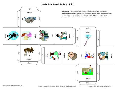 printable activity dice testy yet trying november 2012