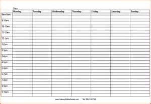 Time Schedule Template by Daily Schedule Template With Time Calendar Template 2016
