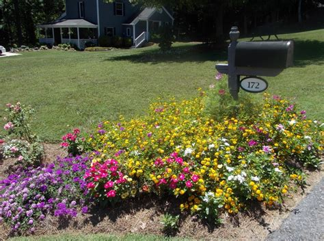 mailbox flower bed be one pictures of landscaping around mailboxes home