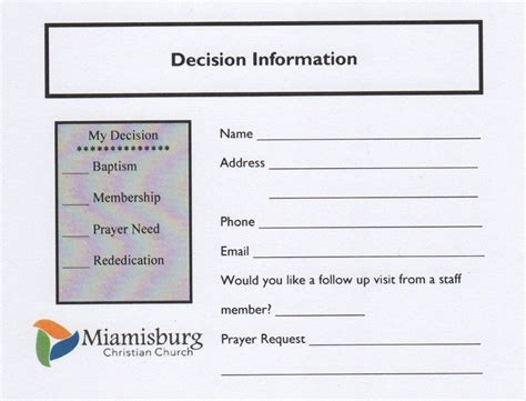 church decision card template decision card template 28 images decision card
