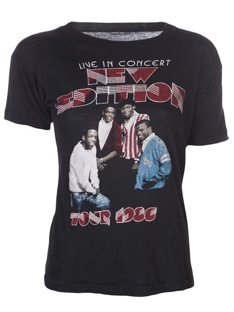 T Shirt Edition vintage new edition concert tshirt in gray black lyst