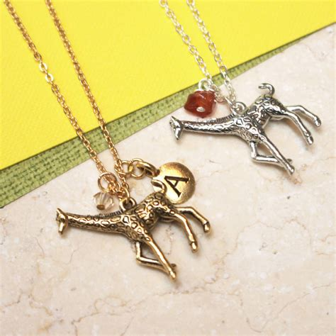 giraffe charm necklace by
