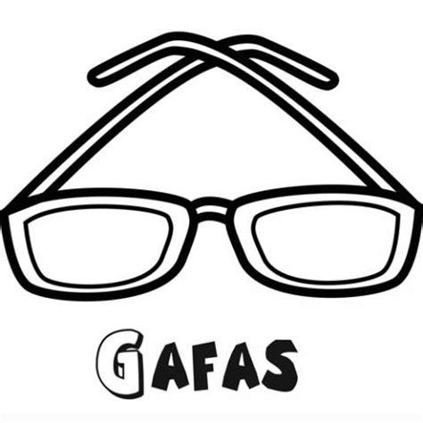 imagenes de objetos a blanco y negro dibujo para imprimir y colorear de unas gafas para ni 241 os