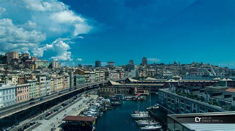 genoa sea genova la vista dal tetto museo mare sul lungomare