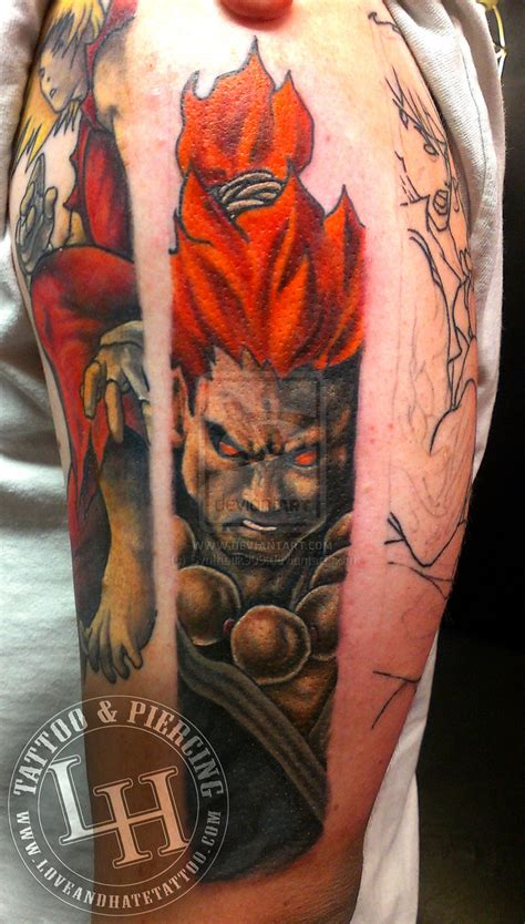 Street Fighter Akuma Tattoo By Synthetik909 On Deviantart Fighter Tattoos