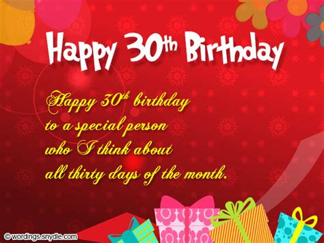Happy Birthday 30th Wishes 30th Birthday Wishes Wordings And Messages