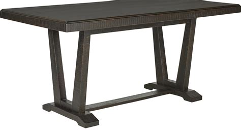 rustic counter height dining table hill creek black rectangle counter height dining table