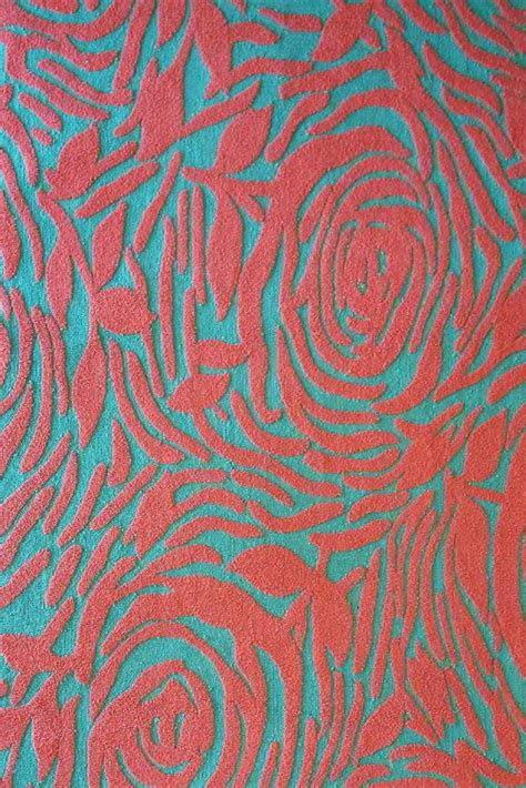 coral and teal rugs lotus indoor outdoor rug in teal and coral by the rug market